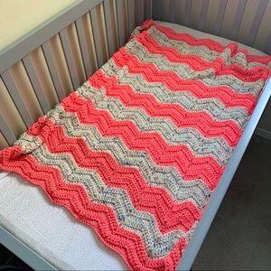 Made by Grandma - Hand Crocheted Baby Blanket